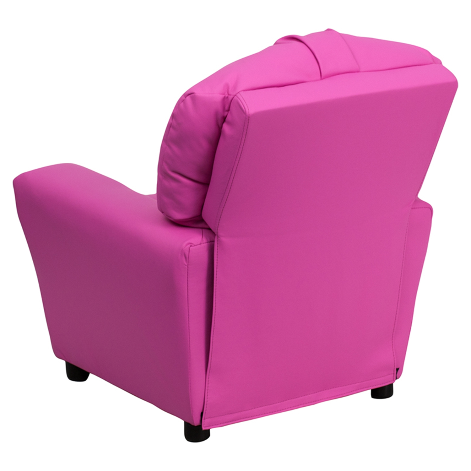 kid recliner chair ak rocker gaming upholstered kids cup holder hot pink dcg stores flsh bt 7950
