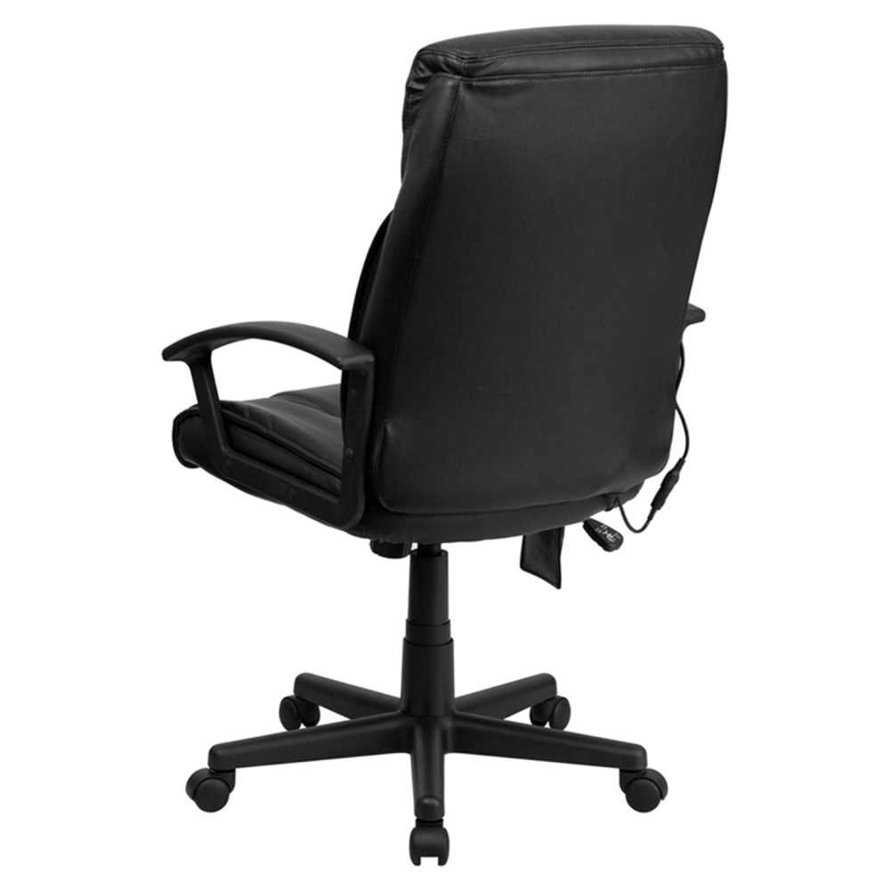 Massaging Leather Executive Office Chair  High Back