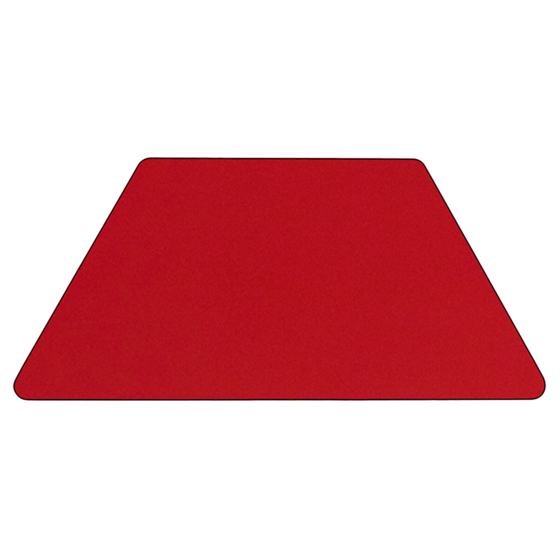 hight resolution of mobile 24 quot x 48 quot trapezoid preschool activity table red