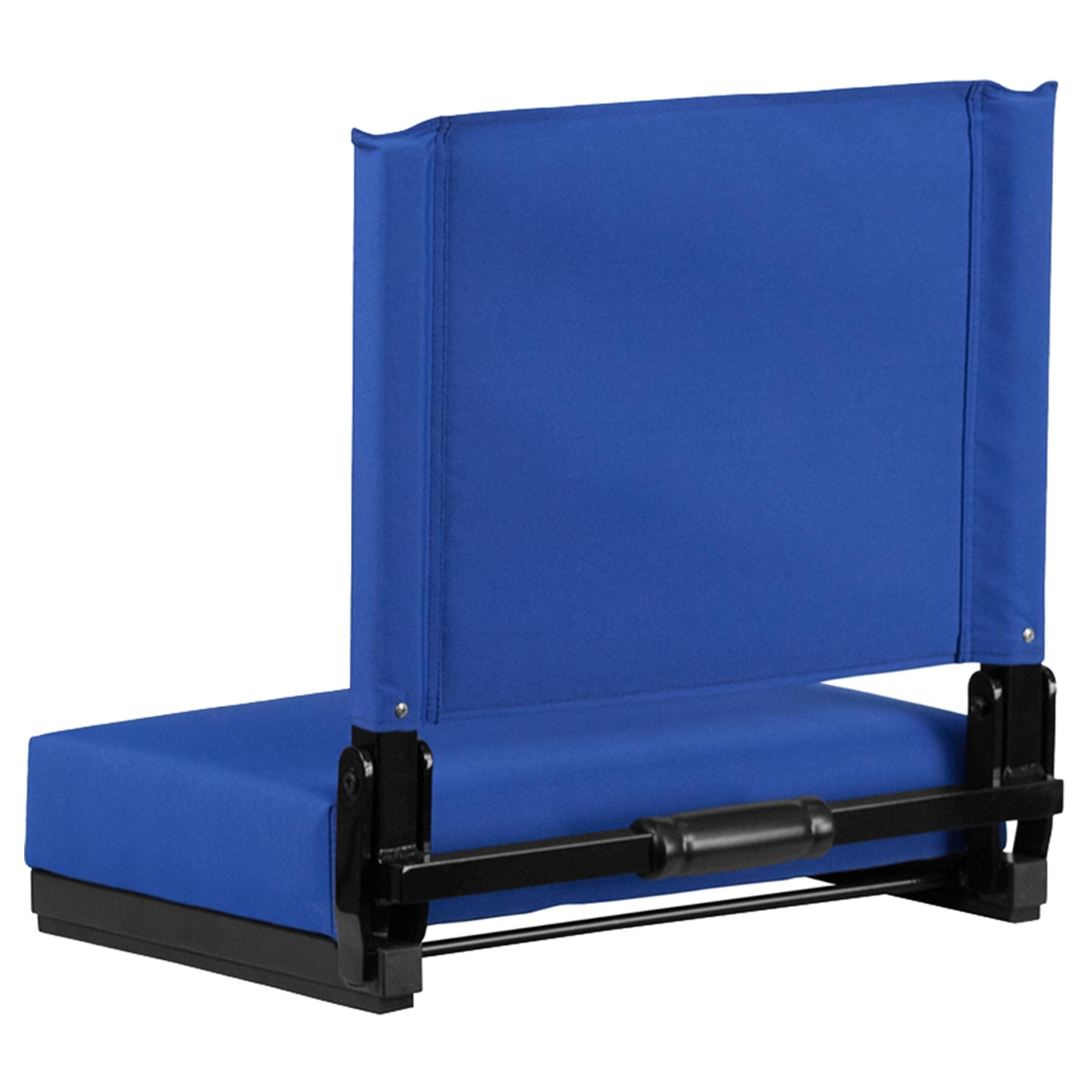 kitchen bistro sets ranges stadium chair - ultra padded seats, blue | dcg stores