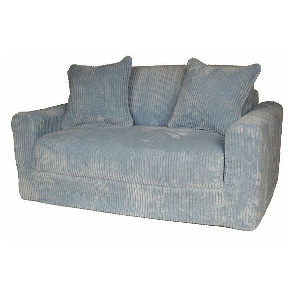 child sleeper sofa italy romania sofascore kids in blue chenille dcg stores