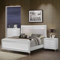 Catalina Bedroom Set in Metallic White   DCG Stores