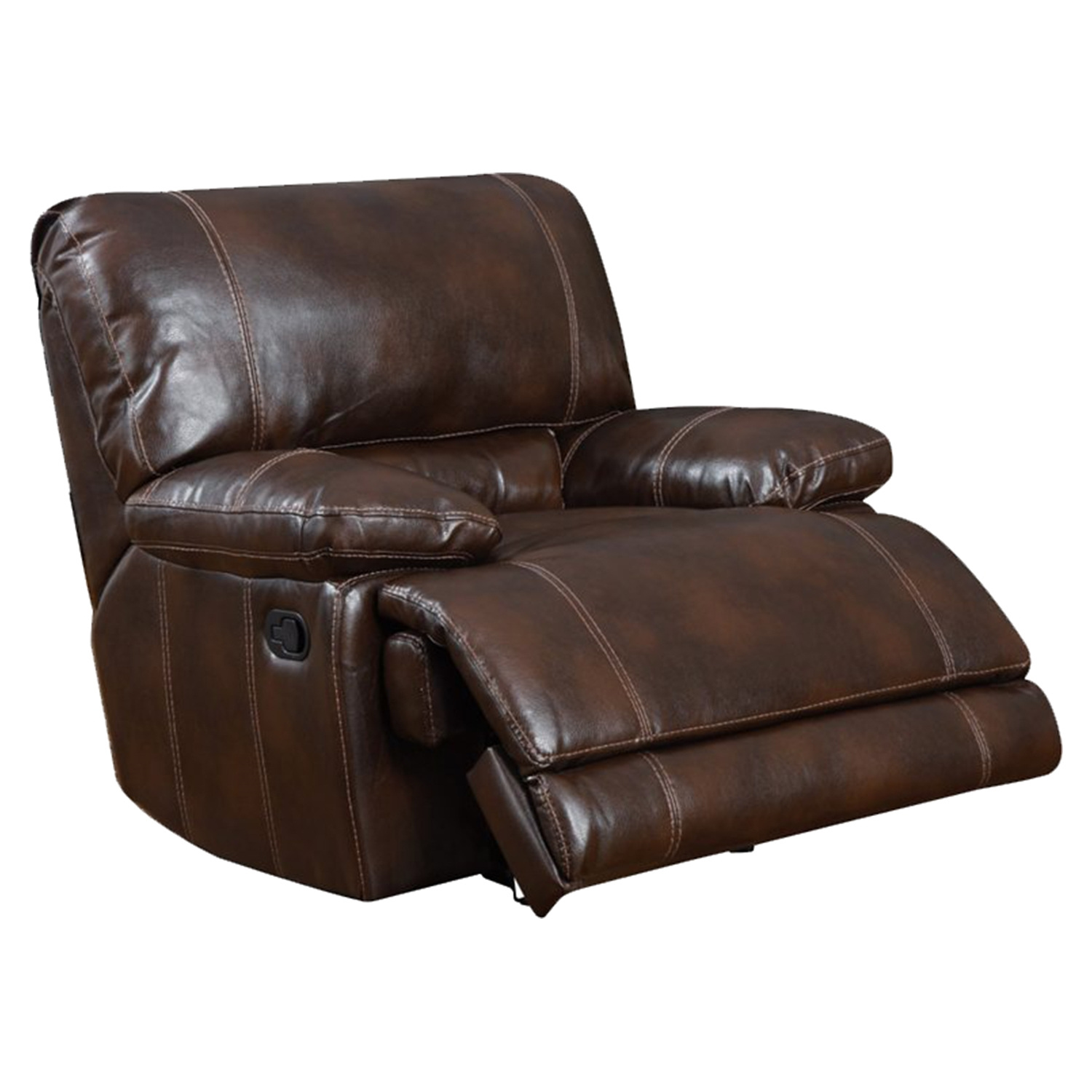 Cristian Console Reclining Sofa Set  Brown Leather  DCG Stores