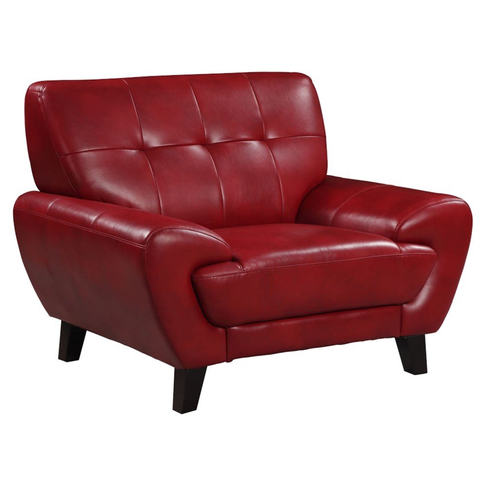 Juliana Leather Chair in Blanche Red  DCG Stores