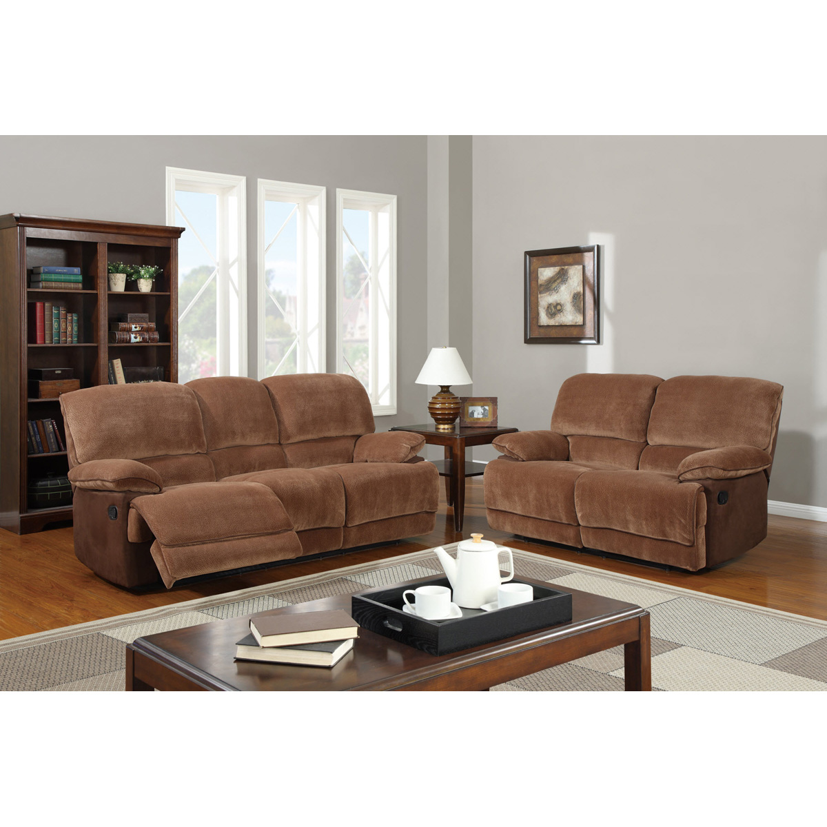 sears sofa sets rust bed jeremy reclining set in brown sugar dcg stores