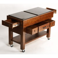 Outback 5-Drawer Kitchen Island on Casters | DCG Stores