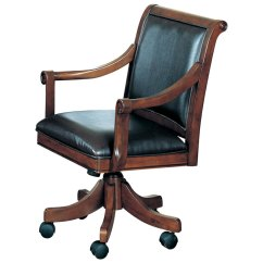 Poker Chairs With Casters Racing Seat Computer Chair Palm Springs Leather Game On Dcg Stores