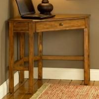 Solano Wooden Corner Desk in Medium Oak | DCG Stores