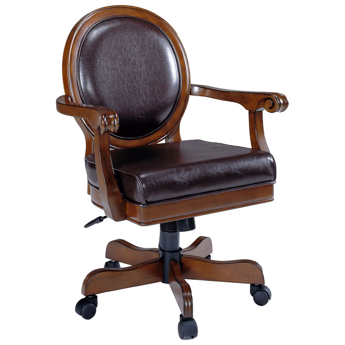 Warrington Leather Caster Game Chair  DCG Stores