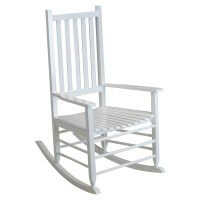 Alexander Mid-Sized Adult Rocking Chair - White | DCG Stores