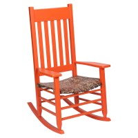 Realtree Max 4 Camouflage Rocking Chair - Orange | DCG Stores