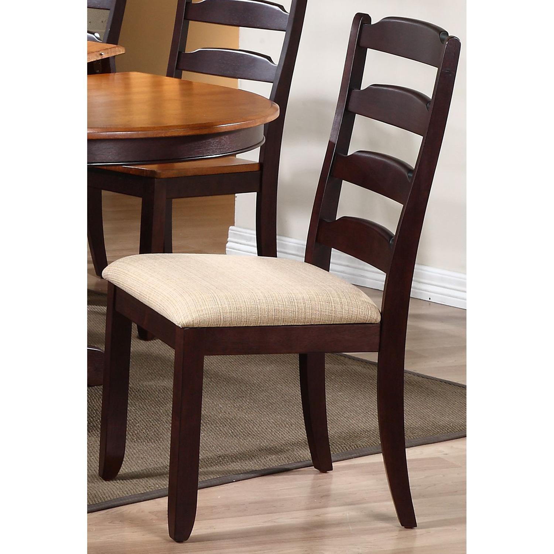 oval back dining chairs weave garden gatsby 7 piece extending set ladder