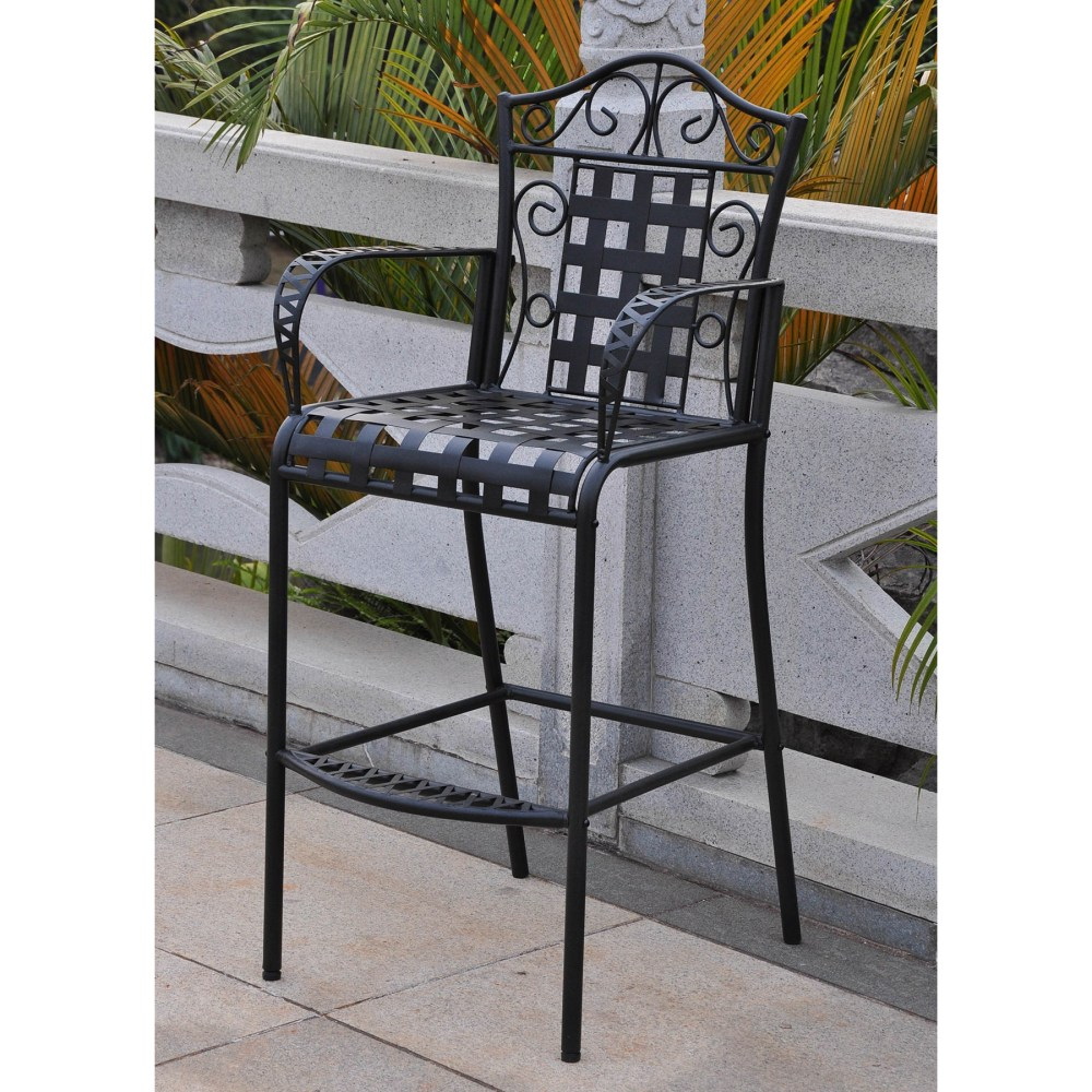 Mandalay Iron Bar-height Patio Table - Antique Black Dcg