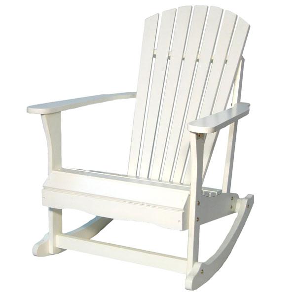 White Outdoor Adirondack Rocking Chair  DCG Stores