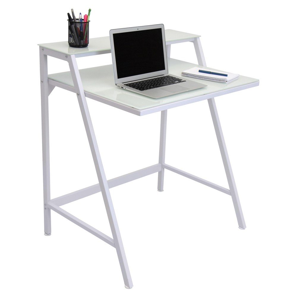 2Tier White Office Desk  DCG Stores