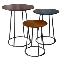 Metal End Tables (Set of 3)   DCG Stores