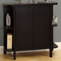 Dulcet Bar Cabinet - Wine Rack, Side Shelves, Cappuccino ...