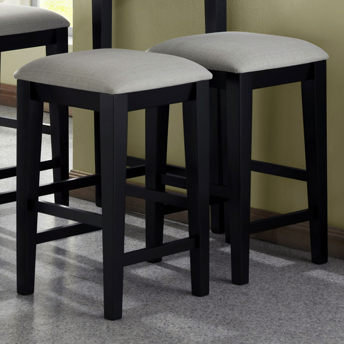 kitchen islands with breakfast bar cart drop leaf destiny 24'' backless counter stool - black, gray seat ...