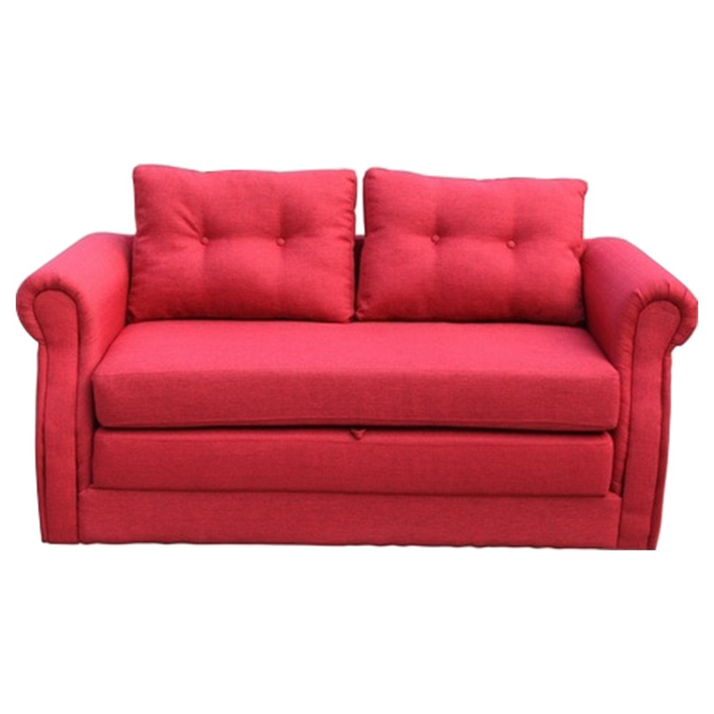 Bonzy home 68 inch futon sofa couch faux leather loveseat sofa bed convertible reliner. Lucca Fabric Sofa Bed - Red   DCG Stores