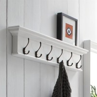 Halifax 6-Hook Coat Rack - Pure White | DCG Stores