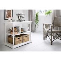 Bordeaux Small Kitchen Table - 2 Boxes, White Distressed ...
