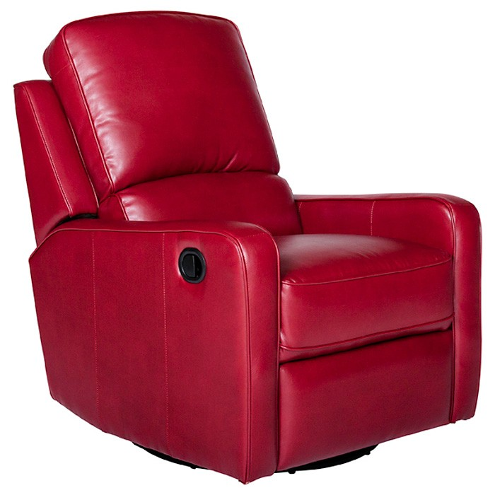 modern recliner chair patio rocking chairs metal perth leather - swivel, glider   dcg stores