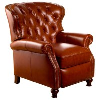 Cambridge Reclining Chair - Tufted, Barstow Cognac Leather ...
