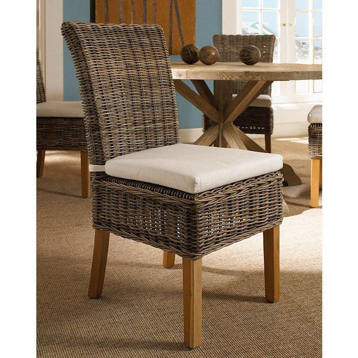 Gray Wicker Chair