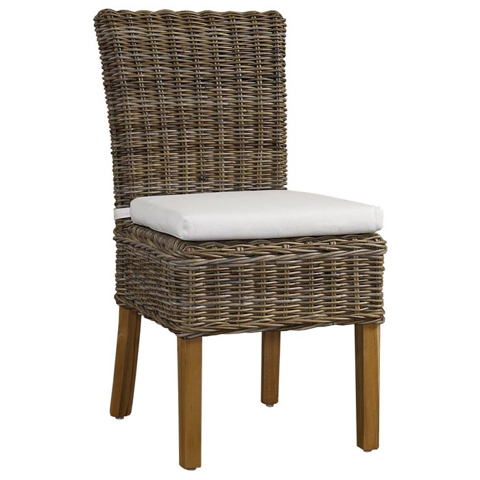 white cushion chair space office boca dining gray kubu rattan wicker dcg stores pad boc12