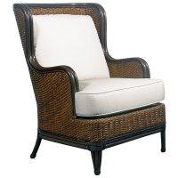 Palm Beach Outdoor Wing Chair - Cushions, Rattan Weave ...