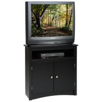 Sonoma Tall Corner TV Cabinet in Black