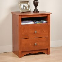 Monterey Tall Nightstand with Open Shelf | DCG Stores