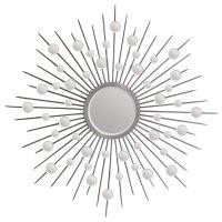 Silver Sunburst Mirror - Beveled, Round, Silver Leaf ...