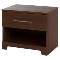 Primo 1 Drawer Nightstand, Brown Walnut | DCG Stores