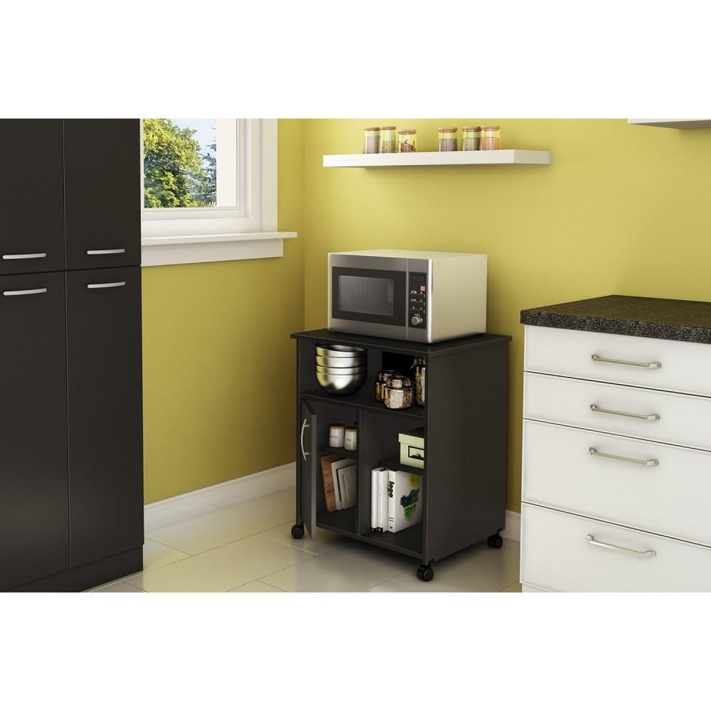 Axess Microwave Cart - Storage Wheels Pure Black Dcg