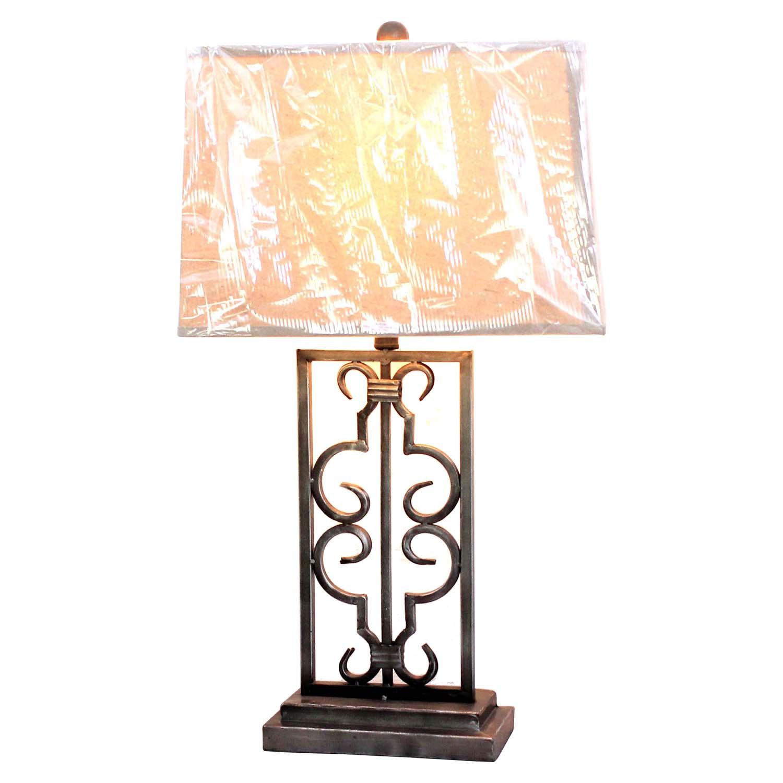 Metal Table Lamp  Rectangular Shade Set of 2  DCG Stores