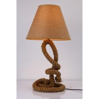 Modrest Blake Modern Rope Table Lamp - Brown | DCG Stores
