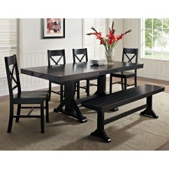 X Back Chairs Folding Table And Chair Sets Millwright 6 Piece Wood Dining Set Black Dcg Stores Wal C60w2bl