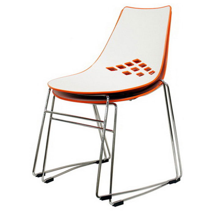 white plastic dining chairs tufted leather lounge chair jupiter stackable and orange dcg stores wi dc 319