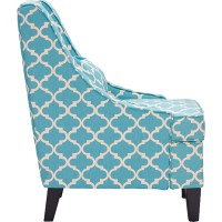 Lotus Patterned Armchair - Blue   DCG Stores