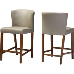 Leather Pub Chair Wheel Lazada Olivia Faux Stool Gray Set Of 2 Dcg Stores Wi Rt325