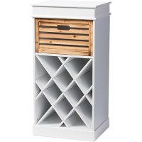Dresdon 1 Drawer Cabinet - Wine Rack, Antique White | DCG ...