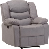 Lynette Fabric Power Recliner Chair - Gray | DCG Stores