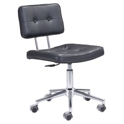 Tufted Desk Chair No Wheels Chairs At Sears Series Office Black Dcg Stores