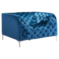 Tufted Blue Chair Rocking For Autistic Child Providence Arm Velvet Dcg Stores