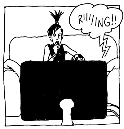 First panel of 24 Hour Comic version.