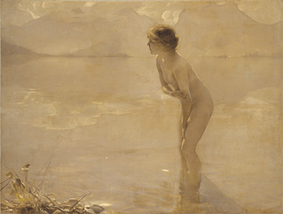 September Morn, oil painting on canvas by Paul Émile Chabas, 1911.