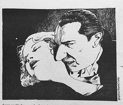 Illustration by David Celsi, from Portland Scribe, circa 1974-1976