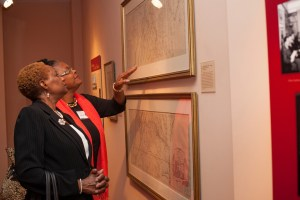 The Society's permanent exhibit, Window to Washington, features maps, photographs and artwork from the Kiplinger Collection.