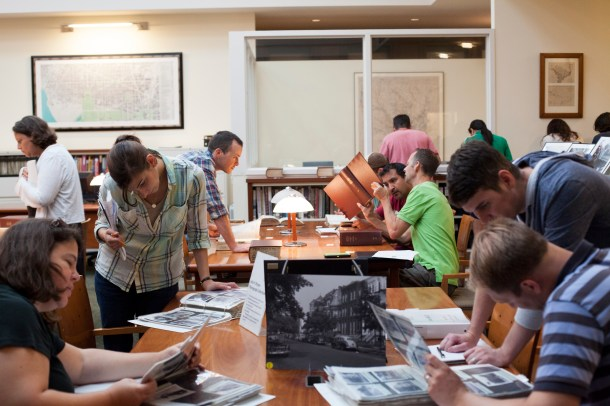 The August house history workshops packed the Kiplinger Research Library with new and veteran researchers alike, all interested in finding out more about their houses' histories.